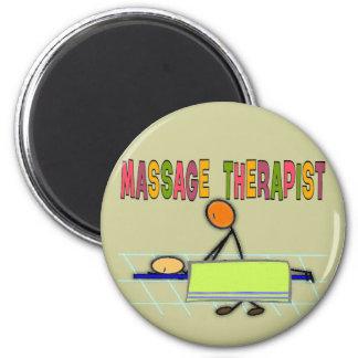 Massage Therapist Stick People Design  Gifts Magnet