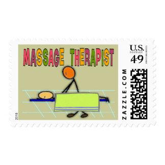 Massage Therapist Stick People Design  Gifts Postage