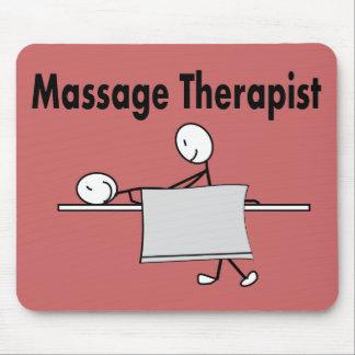 Massage Therapist Stick Person Mouse Pad