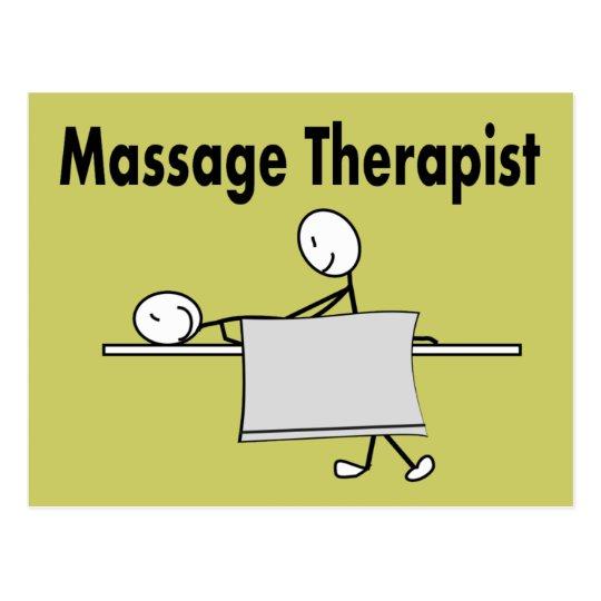 Massage Therapist Stick Person Postcard