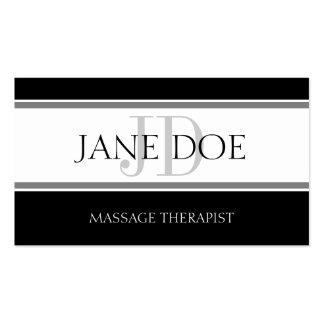 Massage Therapist Stripe W/W Business Card