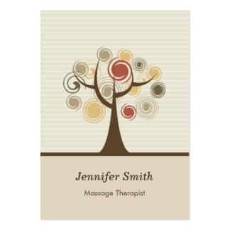 Massage Therapist - Stylish Natural Theme Large Business Card