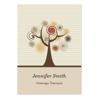 Massage Therapist - Stylish Natural Theme Large Business Cards (Pack Of 100)