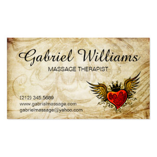 Massage Therapist Vintage Tattoo Appointment Card Business Card