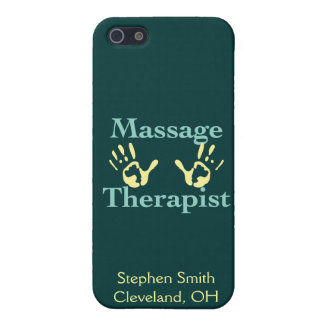 Massage Therapist: Yellow Hand Prints Cover For iPhone SE/5/5s
