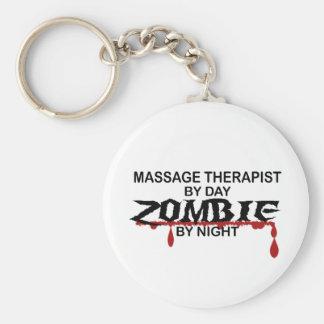 Massage Therapist Zombie Keychain