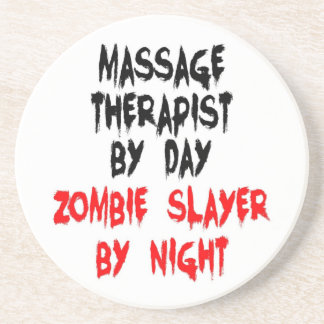 Massage Therapist Zombie Slayer Coasters
