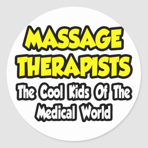 ... Therapists...Cool Kids of Med World Classic Round Sticker  Zazzle