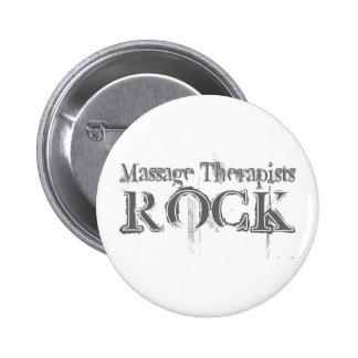 Massage Therapists Rock 2 Inch Round Button