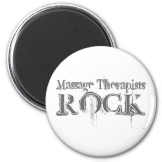 Massage Therapists Rock Magnet