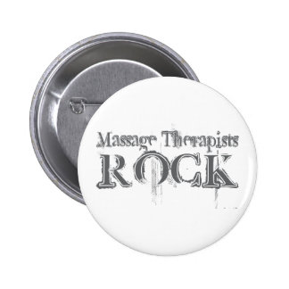 Massage Therapists Rock Pinback Button