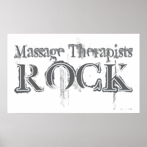 Massage Therapists Rock Poster