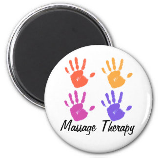 Massage Therapy 2 Inch Round Magnet