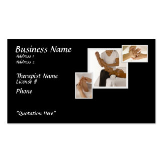 Massage Therapy Business Card, black background Double-Sided Standard Business Cards (Pack Of 100)