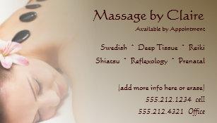 Massage therapy business cards zazzle massage therapy business card colourmoves