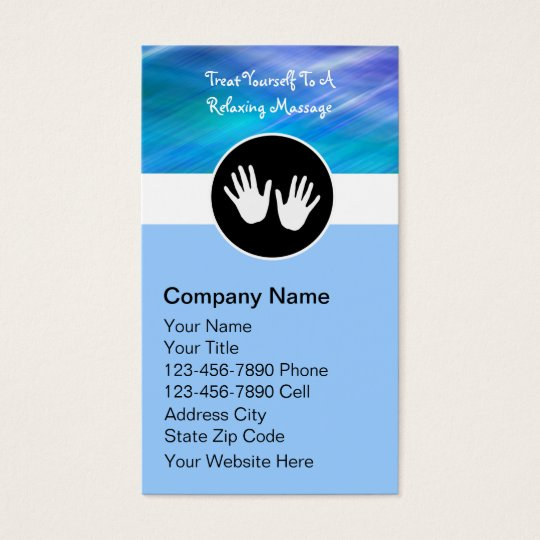 Massage Therapy Business Cards