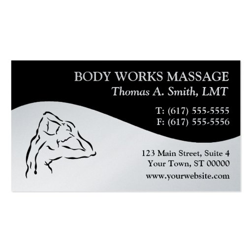 Massage therapy business cards for Massage business card templates