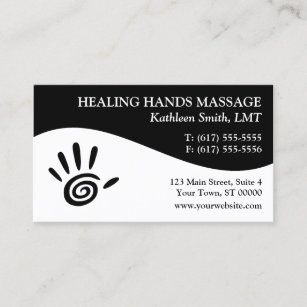 massage therapy business cards - Massage Therapy Business Cards