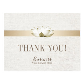 Massage Therapy Elegant Lotus Salon SPA Thank You Postcard