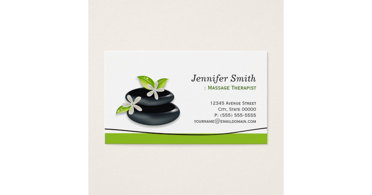 Massage Therapy Business Cards & Templates | Zazzle