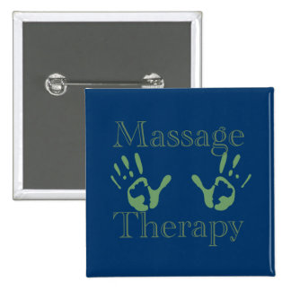 Massage therapy hand prints 2 inch square button