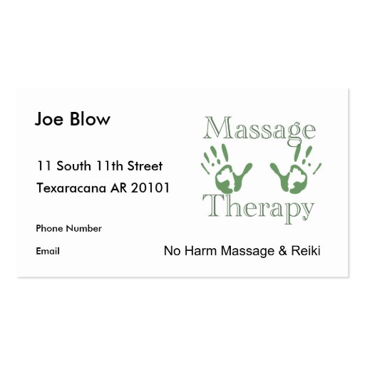 Business plan for massage therapist example