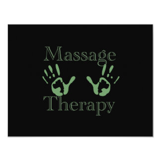 Massage therapy hand prints card