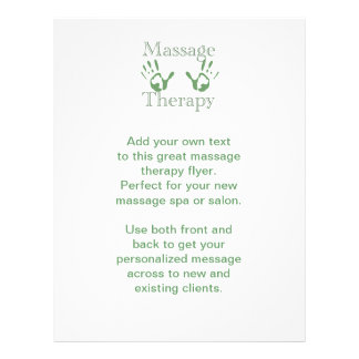Massage therapy hand prints flyer