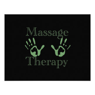 Massage therapy hand prints personalized invitations