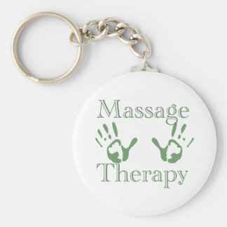 Massage therapy hand prints keychain