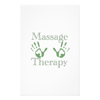 Massage therapy hand prints stationery