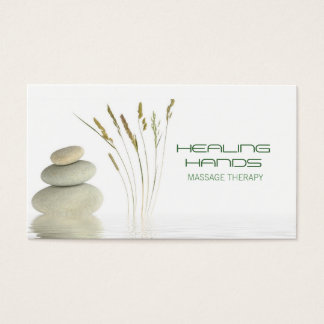 Massage Therapy Healing Arts Skin Care Business Business Card