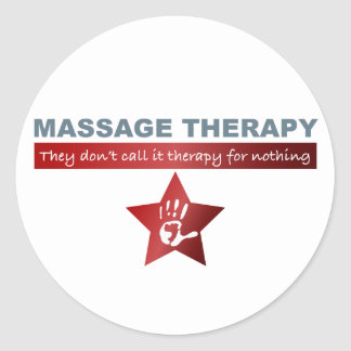 Massage Therapy in Ruby Red Classic Round Sticker