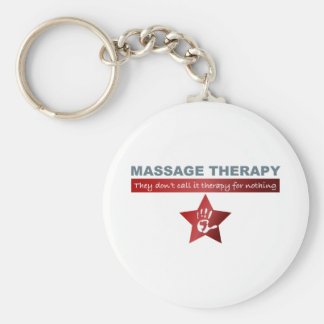 Massage Therapy in Ruby Red Keychain