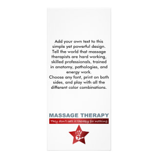 Massage Therapy in Ruby Red Custom Rack Cards