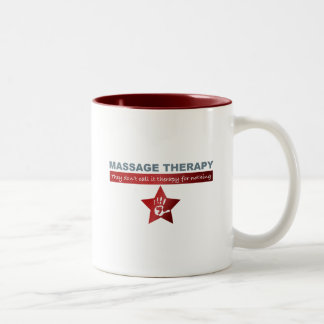 Massage Therapy in Ruby Red Two-Tone Coffee Mug