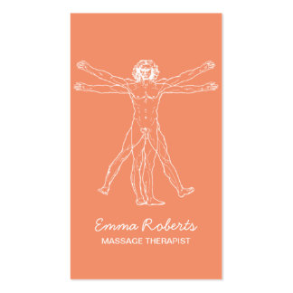Massage Therapy Perfect Body Spa Orange Business Card