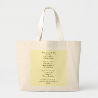Massage Therapy Prayer Large Tote Bag