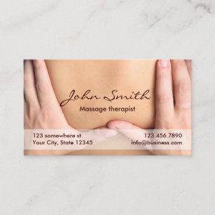 Massage therapist business cards templates zazzle massage therapy professional therapist appointment colourmoves