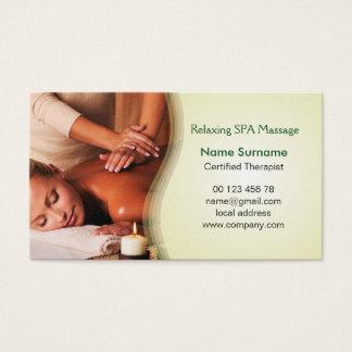Massage therapy, remedial massage business card