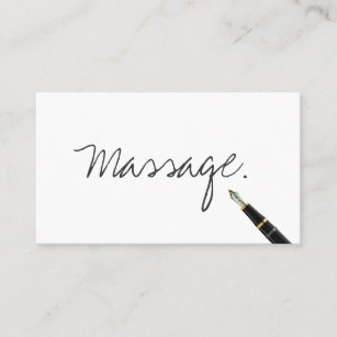 Massage therapy business cards templates zazzle massage therapy simple handwritten business card colourmoves