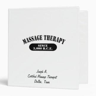 Massage Therapy.  Since 3,000 B.C.E. Binder