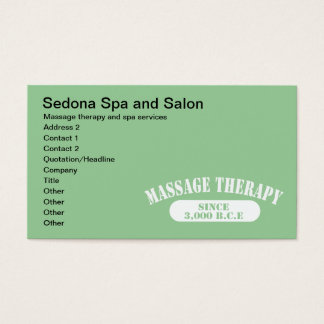 Massage Therapy Since 3,000 B.C.E. Business Card