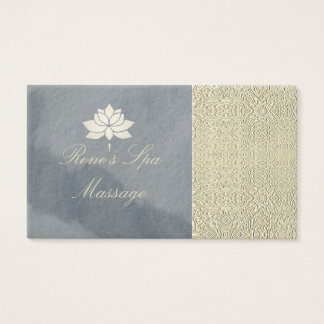 Massage therapy spa bath business cards