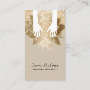 Massage therapy business cards templates zazzle massage therapy spa healing hands vintage flower business card colourmoves