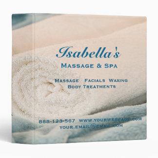 Massage Towels Essential Oils Spa 3 Ring Binder
