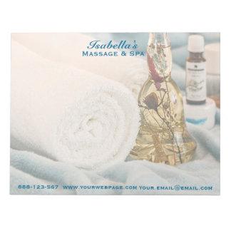Massage Towels Essential Oils Spa Notepad