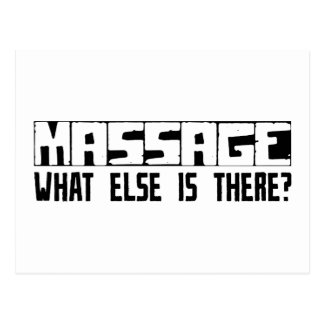 Massage What Else Is There? Postcard