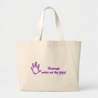 Massage Works Out the Kinks Jumbo Tote Bag