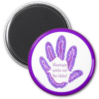 Massage Works Out the Kinks Fridge Magnet